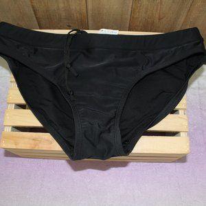Sporti Bikini Bottom Drawstring Waist Black